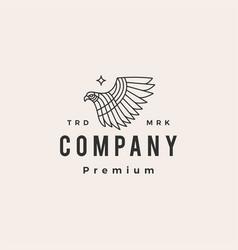 bird prey monoline hipster vintage logo icon vector image