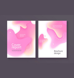 business poster template with pink gradient liquid vector image