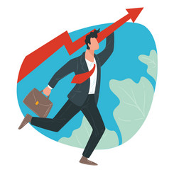 businessman professional and career growth vector image