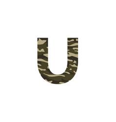camouflage logo letter u vector image