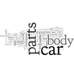 Car body parts vector