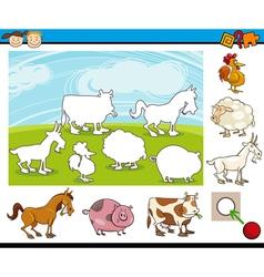 Cartoon preschool task for kids vector