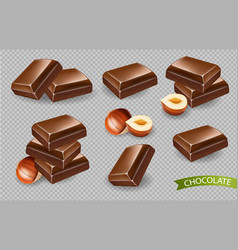 chocolate realistic template detailed candies for vector image