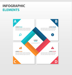Colorful square business infographics elements vector