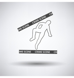 Crime scene icon vector image