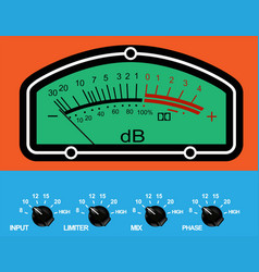 Db meter vector