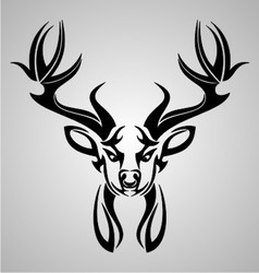 Deer head tribal vector