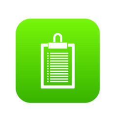 document plan icon digital green vector image