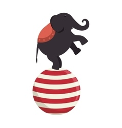 elephant circus entertainment icon vector image