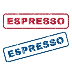 Espresso Rubber Stamps vector image