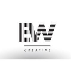 Ew e w black and white lines letter logo design vector