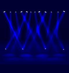 Festival show light dance floor banner disco vector