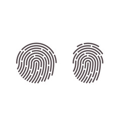 Fingerprint finger print scan logo icons vector
