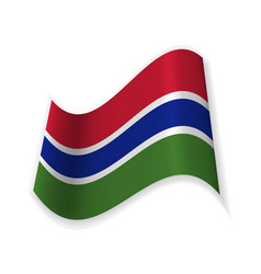 flag of the gambia vector image