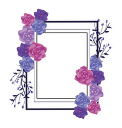 Flower arrangement frame vector