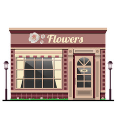 Flower shopthe facade of the store vector