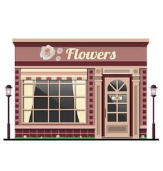flower shopthe facade of the store vector image