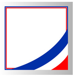 French flag frame corner vector