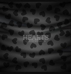 hearts symbol pattern dark background vector image