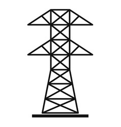 high voltage tower icon simple style vector image