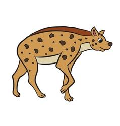 Hyena standing vector