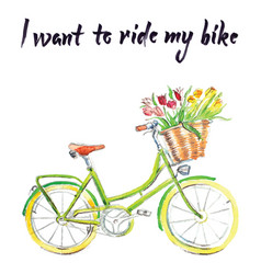 i want to ride my bike vector image