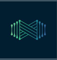 infinity logo vector image