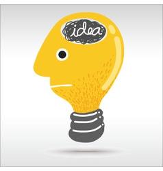 Man light bulb head vector