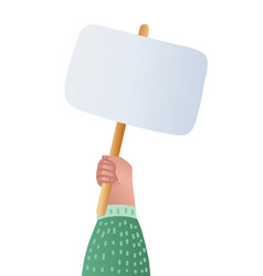 marchers hand holding placard vector image
