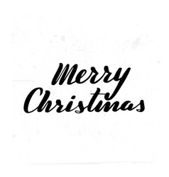 merry christmas brush hand lettering vector image