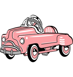 Pedal car vector image