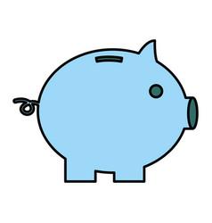 Piggy bank safe money on white background vector