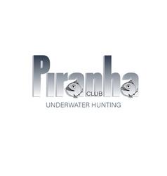 Piranha name of the club underwater hunting vector