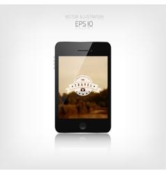 responsive hipster travel web design adaptive vector image