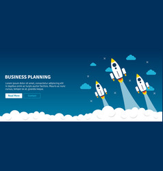 rocket launch and smoke business planning vector image