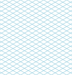 Seamless Isometric Grid Pattern vector image