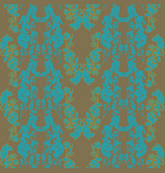 seamless pattern with abstract floral vector image