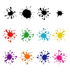 Set of colored blots vector