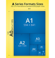 Size of format a paper sheets poster vector
