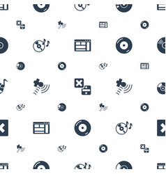 Software icons pattern seamless white background vector