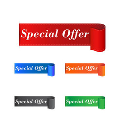 special offer sticker label on white background vector image