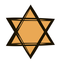 star of david icon cartoon vector image