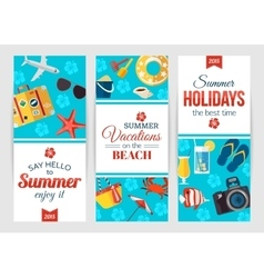 summertime typographical banners with place vector image