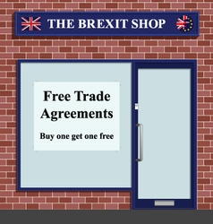 The Brexit Shop vector image