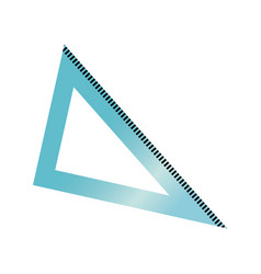 Triangle ruler geometry school utensil vector