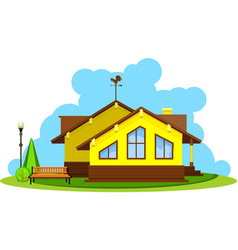 vacation home vector image