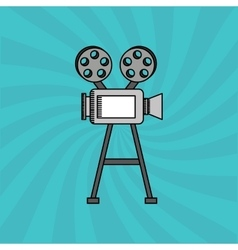 video camera design vector image