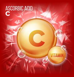 Vitamin c ascorbic acid organic vitamin vector