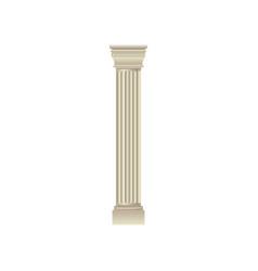white classic antique column vector image