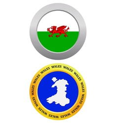 button as a symbol map WALES vector image